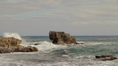 Cozumel Mexico Ocean View with Rocks (HD) - stock footage