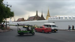 Outside of Grand Palace, Bangkok Stock Footage