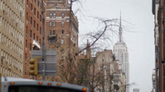 Bus in Manhattan, New York City Stock Footage