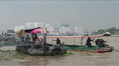 Menam river, Bangkok, boat Stock Footage