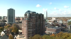 Rooftop View of Busy Downtown Stamford - stock footage