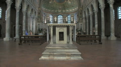 Italy Sant' Apollinare in Classe altar 2 Stock Footage