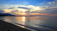 Beach and sunset Stock Footage