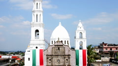 Church in the center of Tlapacoyan, Veracruz, Mexico Stock Footage