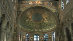 Mosaic in Sant' Apollinare in Classe  Stock Footage