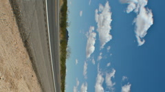AZ highway 93 in the middle of nowhere in timelapse Stock Footage
