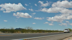 HD pan - AZ highway 93 in the middle of nowhere in timelapse Stock Footage