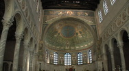 Mosaics in Sant' Apollinare in Classe  Stock Footage