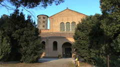 Stock Video Footage of A man walks towad Sant' Apollinare