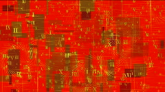 Square number,alphabet matrix,information data,digital science space info. Stock Footage