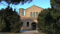 Stock Video Footage of Italy Sant' Apollinare in Classe facade