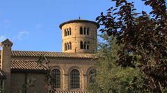 Italy Sant' Apollinare in Classe tower 2 Stock Footage