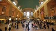 Stock Video Footage of Grand Central Station NYC time lapse Fast super wide 1080p native 24P subway