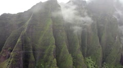 Napali Coast Aerial View Stock Footage