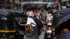 Mumbai street P5 Stock Footage