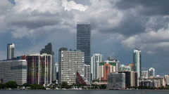 Time lapse in Brickell skyline, Miami Stock Footage