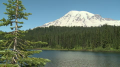 Mt Rainier 01 - stock footage