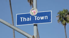 Thai Town Sign 01 HD Stock Footage