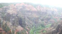 Aerial View of Waimea Canyon in Kaui Stock Footage