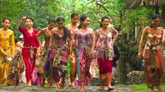 Kebaya Girls Stock Footage