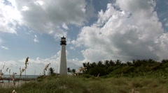 Time lapse in  lighthouse with clouds Stock Footage