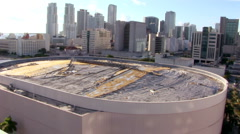 Miami Arena Demolition Stock Footage