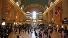 Grand Central slow motion Stock Footage