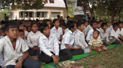 Cambodia: Children at Village Meeting Stock Footage
