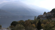 Stock Video Footage of Italy misty Lake Como