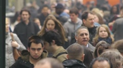 Crowd Walking Stock Footage