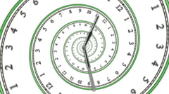 Looping Spiral Clock (HD PAL) Stock Footage