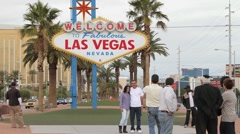 Las Vegas Sign Timelapse Stock Footage