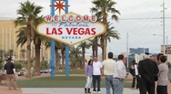 Stock Video Footage of Las Vegas Sign Timelapse