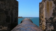Puerto Rico - El Morro Fortress - Cannon Looking West Stock Footage
