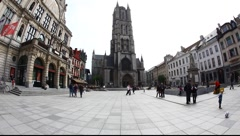 Main Square in Gent, Belgium Stock Footage