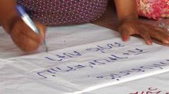 Cambodia: Writing Khmer Stock Footage