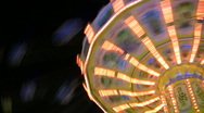 Stock Video Footage of lighting chairoplane