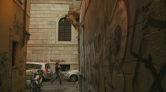 Graffiti in Rome (Glidecam) Stock Footage