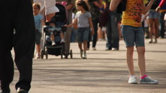 People walking casually. (3) Stock Footage