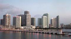 Sunrise in Miami Stock Footage