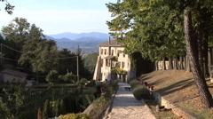 Italy La Foresta sanctuary Stock Footage