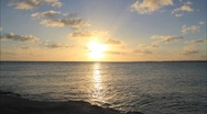Anguilla Beach and Ocean Sunset Timelapse Stock Footage