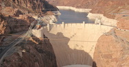 2K Video 30p Hoover Dam as seen from atop the memorial bridge Stock Footage
