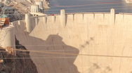 HD 30p zoom out Hoover Dam as seen from atop the memorial bridge Stock Footage