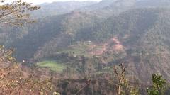 Nepal: Terriced Hillside Stock Footage