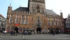The Bruggemuseum (Bruges Museum) Belfort tower, Belgium Stock Footage