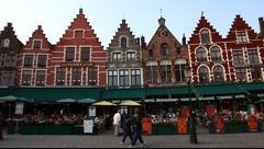 Monuments in the historic center of Bruges, Belgium - stock footage