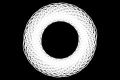 Ovals spirogyra B 01 Stock Footage
