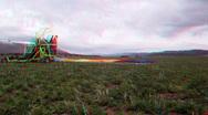 Pilot packing parachute HD 3D 006 Stock Footage