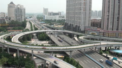 Flyover in Guangzhou - stock footage
